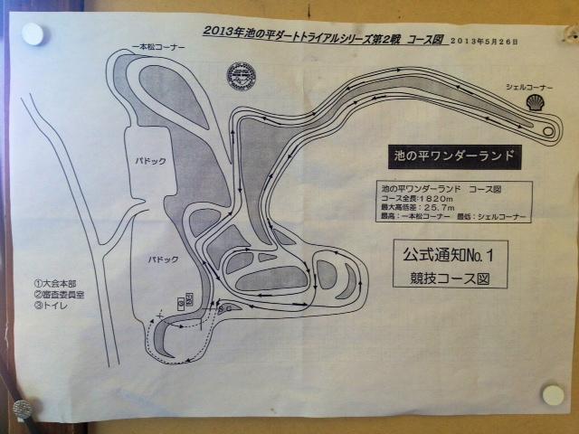 2013池の平ダートトライアル第2戦コース