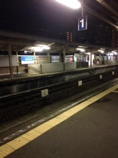 最終電車待ち